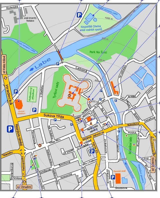 Kamzajit Cz Pardubice Podrobna Mapa Centra